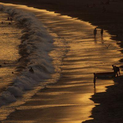 En la orilla del mar