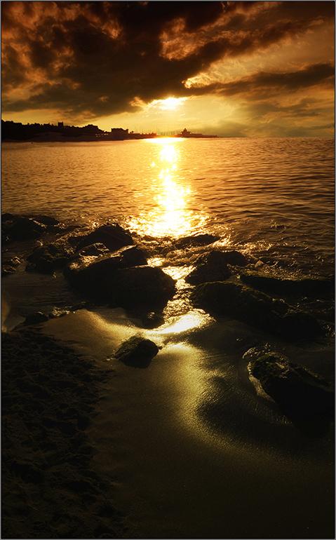 En la soledad del mar.