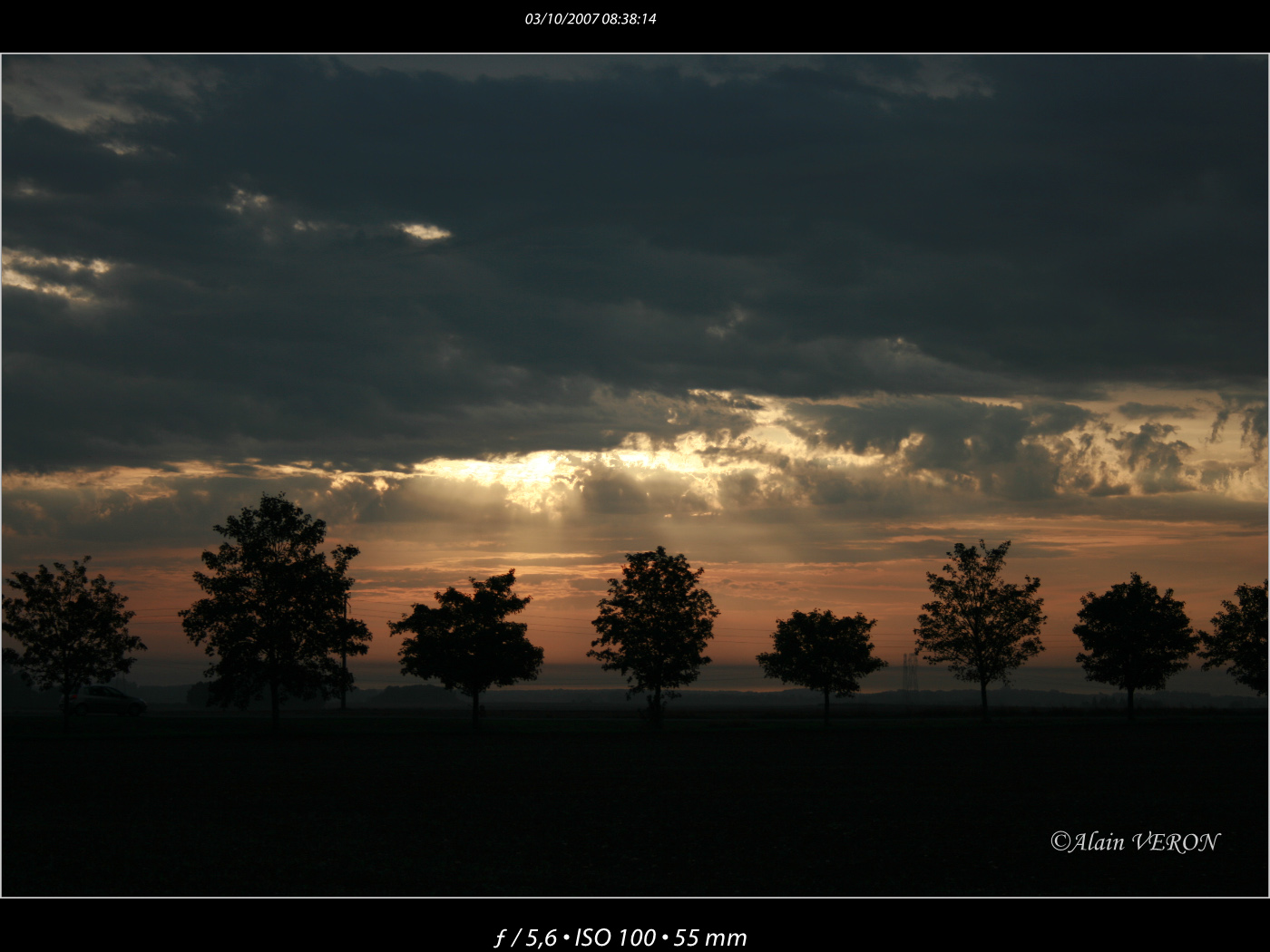 En ligne face au soleil levant