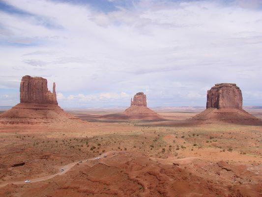 En route... à Monument Valley