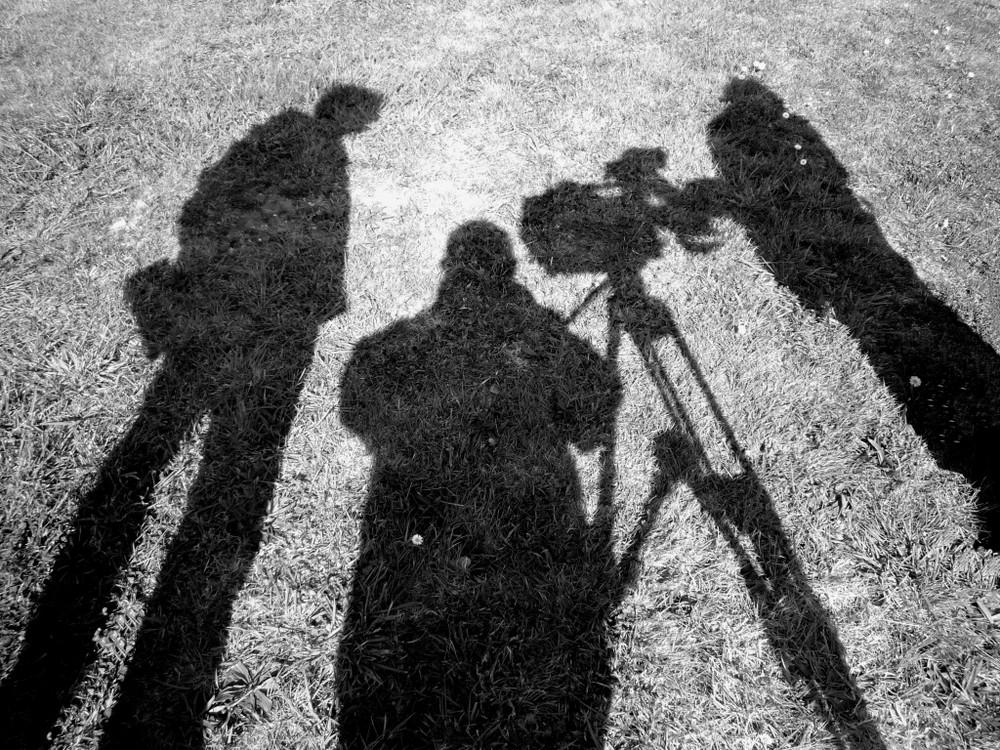En tournage d'un reportage télévisé …