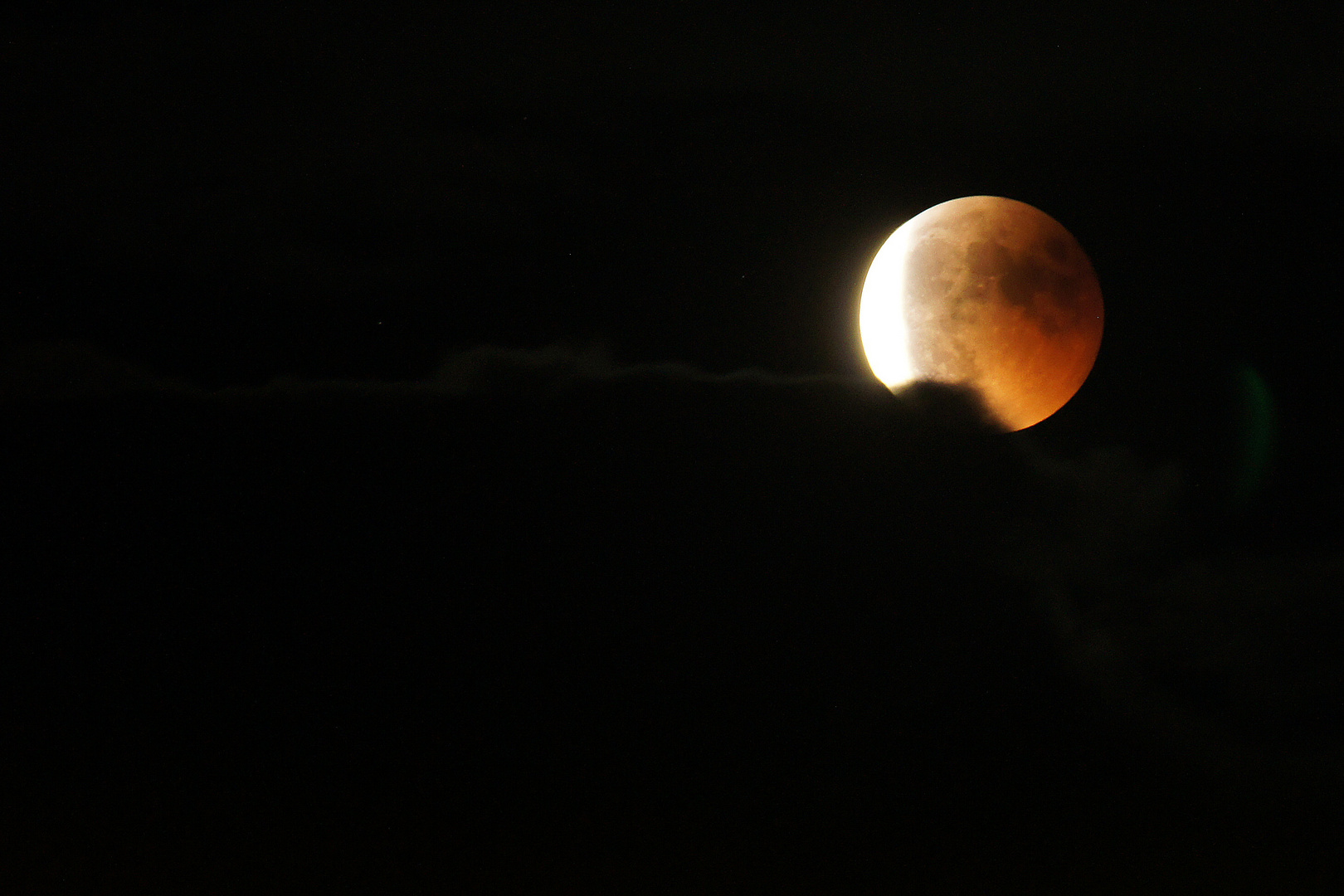 Ende der Mondfinsternis am 15.06.2011