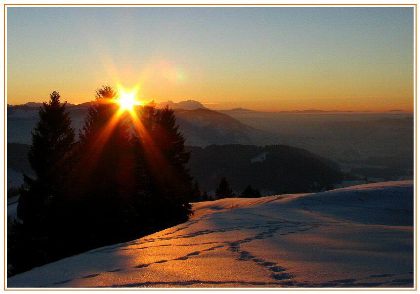 Ende eines schönen Wintertag's