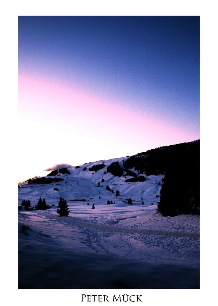 Ende eines Skitages