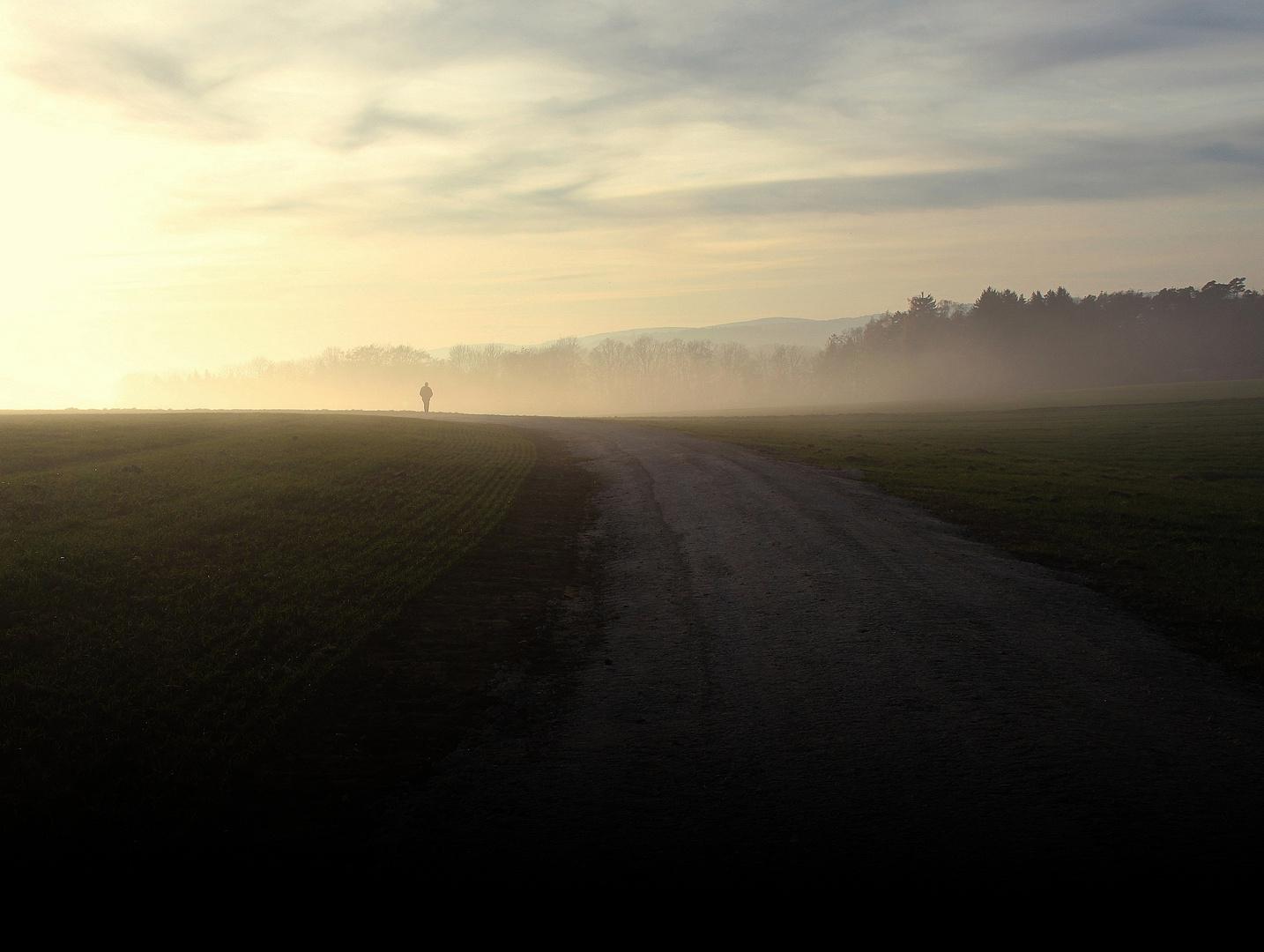 Ende November, über dem Nebel