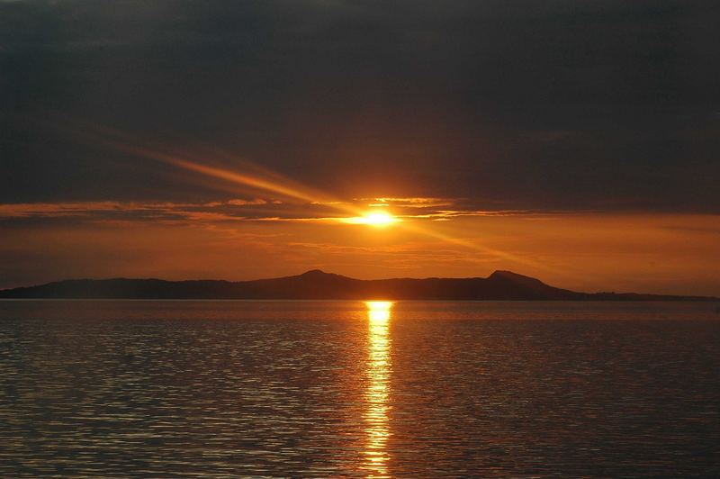 endlich ein Sonnenuntergang