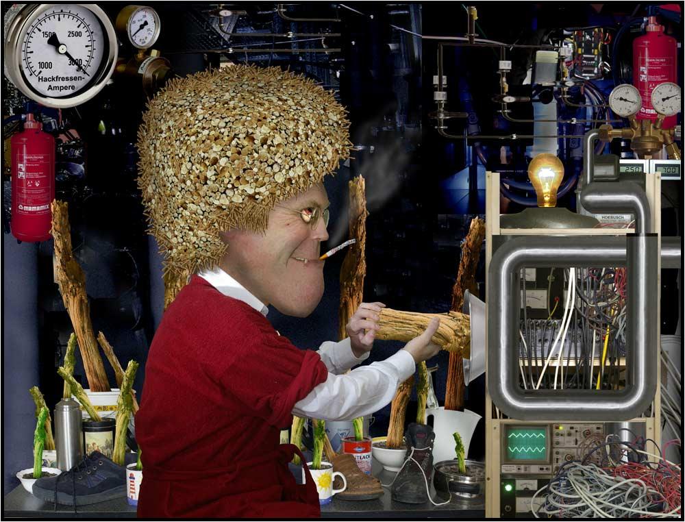 Endlich!!!! Prof. Dr. Dr. Harrybert ASTorius Hackfresse löst die Energieprobleme der Menschheit !!!