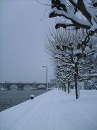 Endlich Schnee in Würzburg.