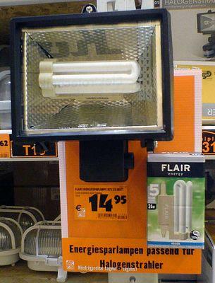 Energiesparlampe für Baustrahler