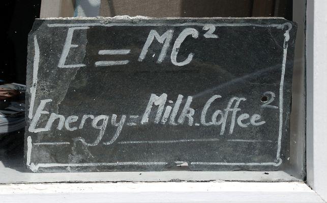 Energy = Milk . Coffee2