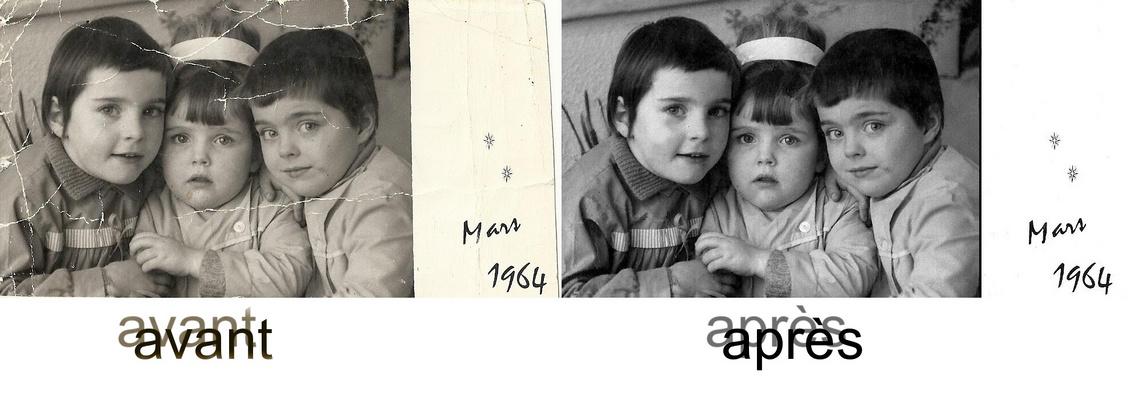 enfant retouche vieille photo