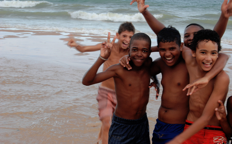 Enfants à Salvador de Bahia (Brésil)