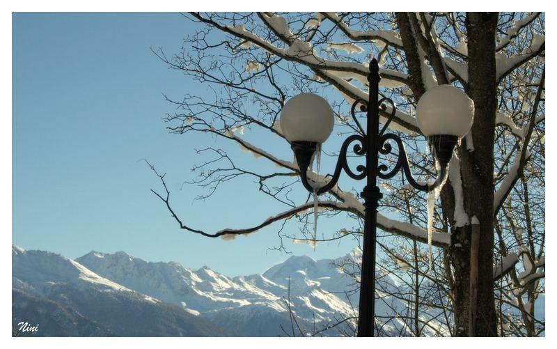 Enfin de la neige en montagne...