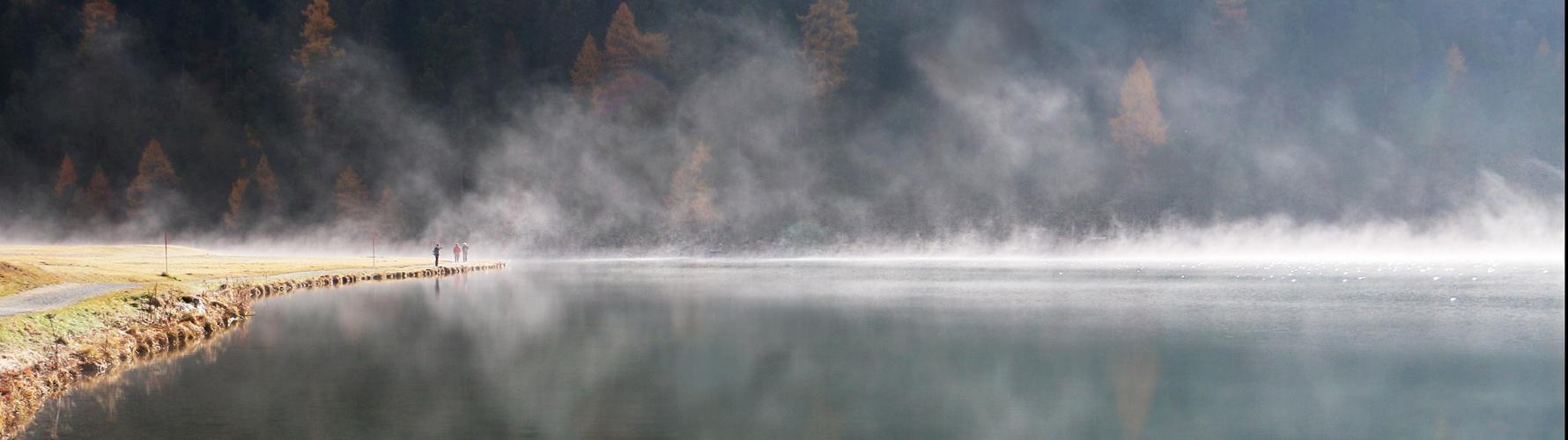 Engadin: Nebelschwaden laden zum baden...