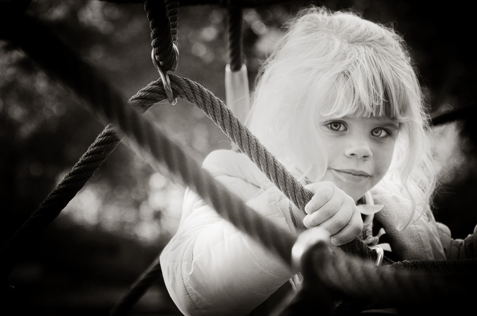 Engel in schwarz - weiß