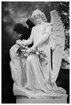 Engel mit Schattenrißspiegelung