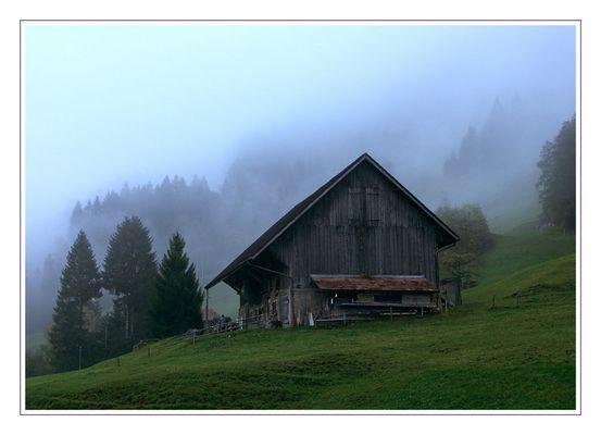 Engelberg im Nebel