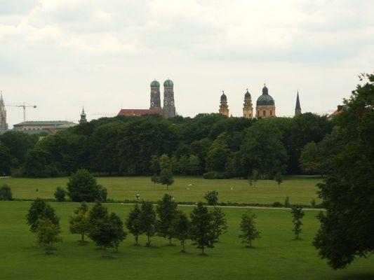 Englischer Garten München Blick vom Monopteros