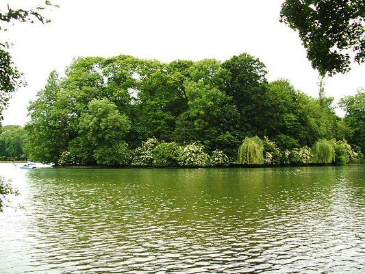 Englischer Garten München Insel in der nähe des Seecafes