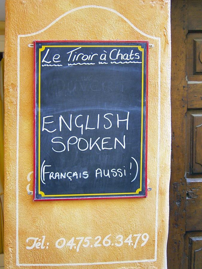 English spoken ... und das in Frankreich