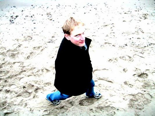 Englishman on the beach