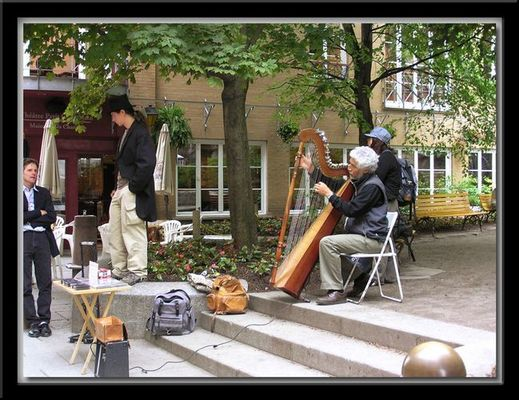 Enjoying the Street Music.