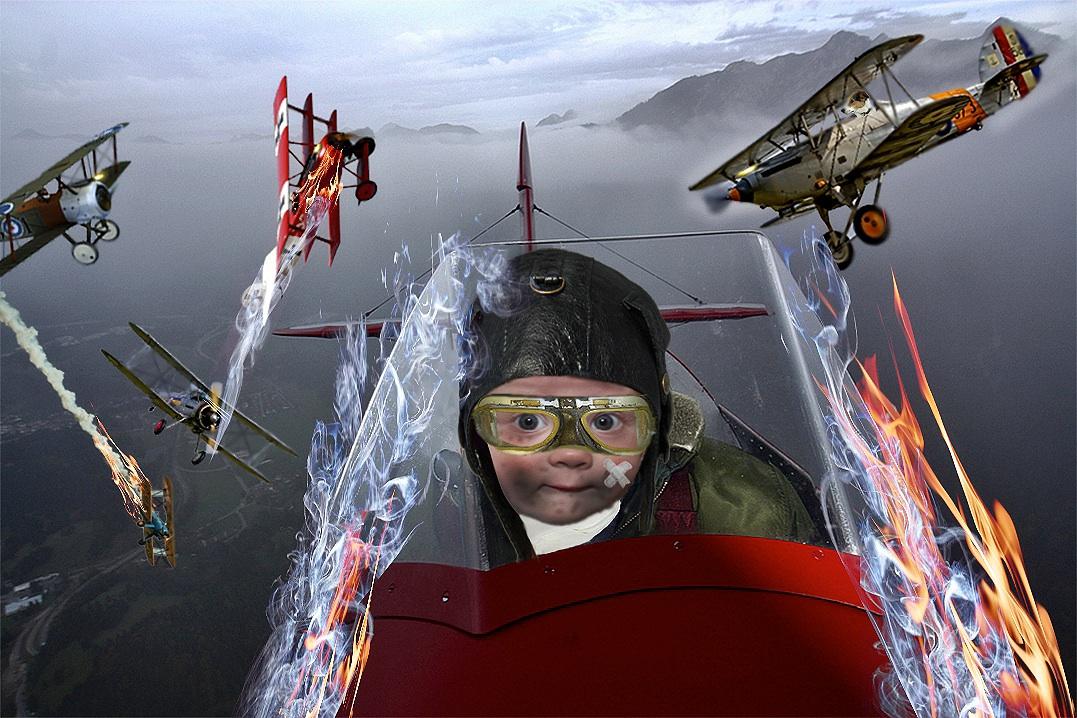 Enkel Miro als Pilot in der Schlacht um Verdun