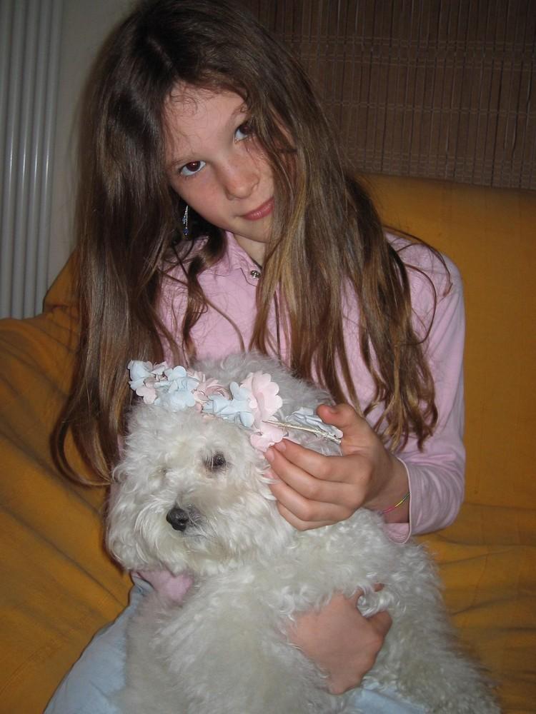 Enkelin T. mit Hund (Italien)