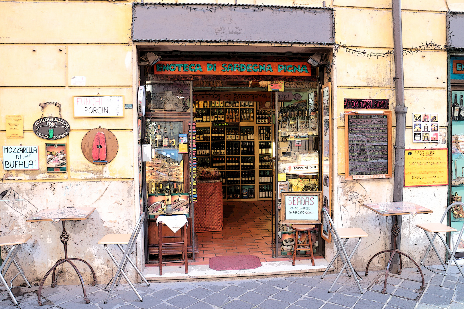 Enoteca (Weinhandlung )in Rom