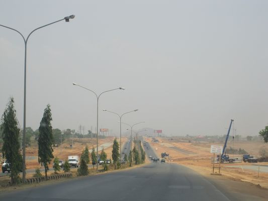 ENTACNCE OF ABUJA CITY IN NIGERIA UNDER CONSTRUCTION