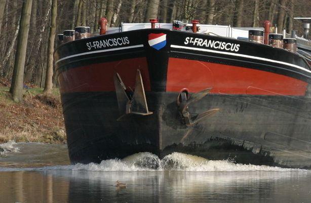 Ente vor Tankschiff