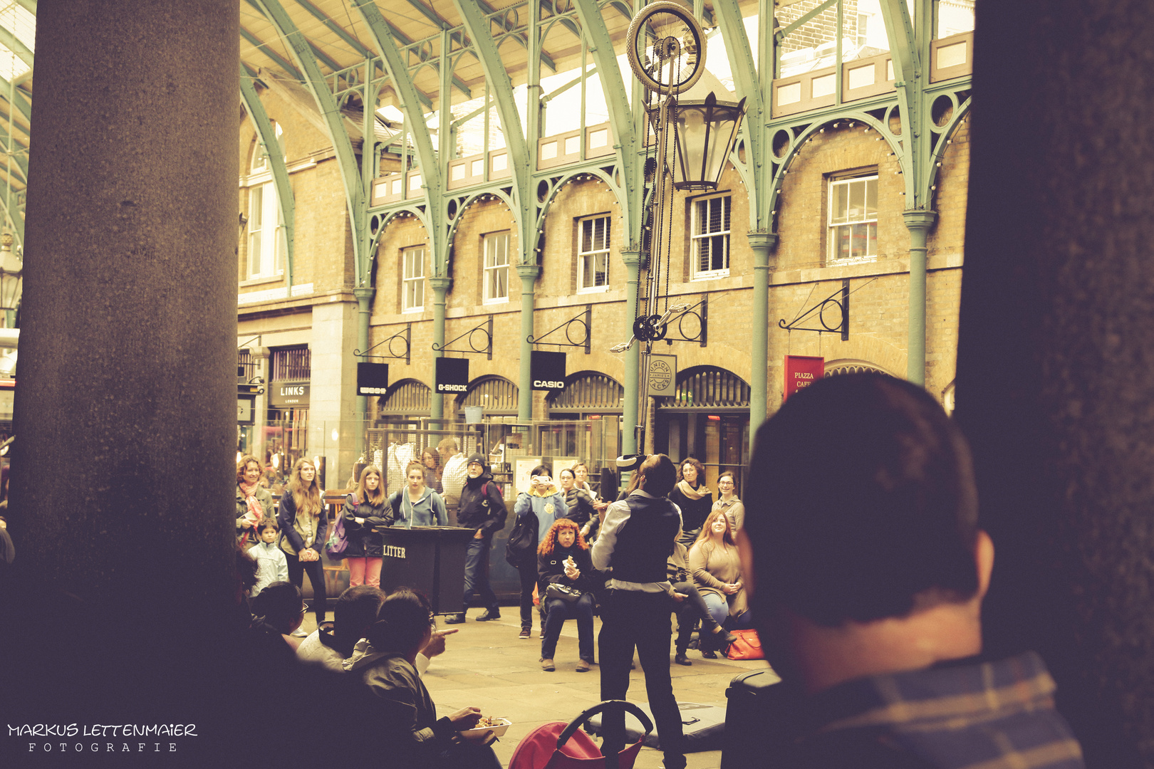 Entertainment at the Covent Garden Market