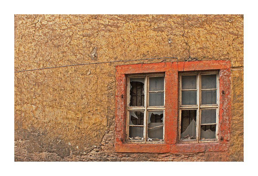 entglaste Fenster
