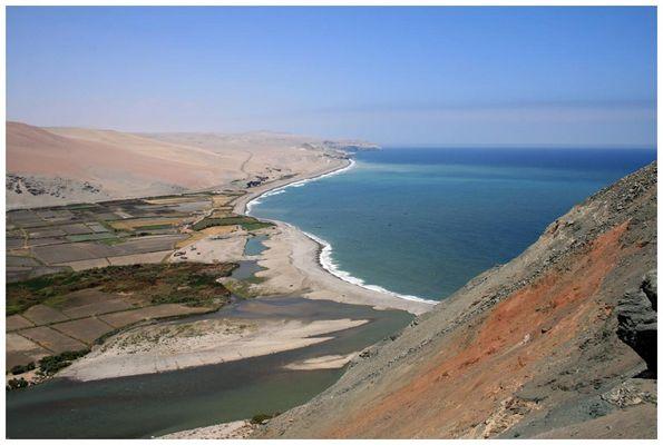 entlang der peruanischen Pazifikküste
