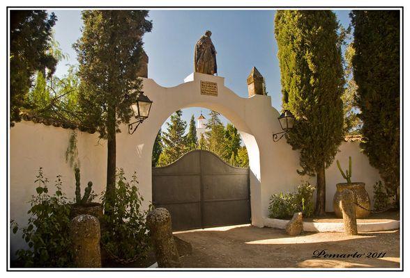 Entrada a la Finca de San Calixto- Hornachuelos- Córdoba.