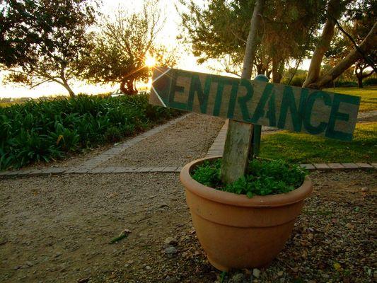 Entrance im Weingarten, Südafrika