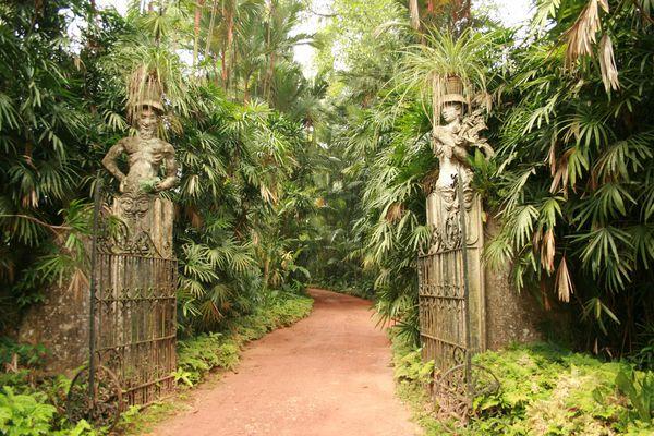 Entrance in Brief Garden