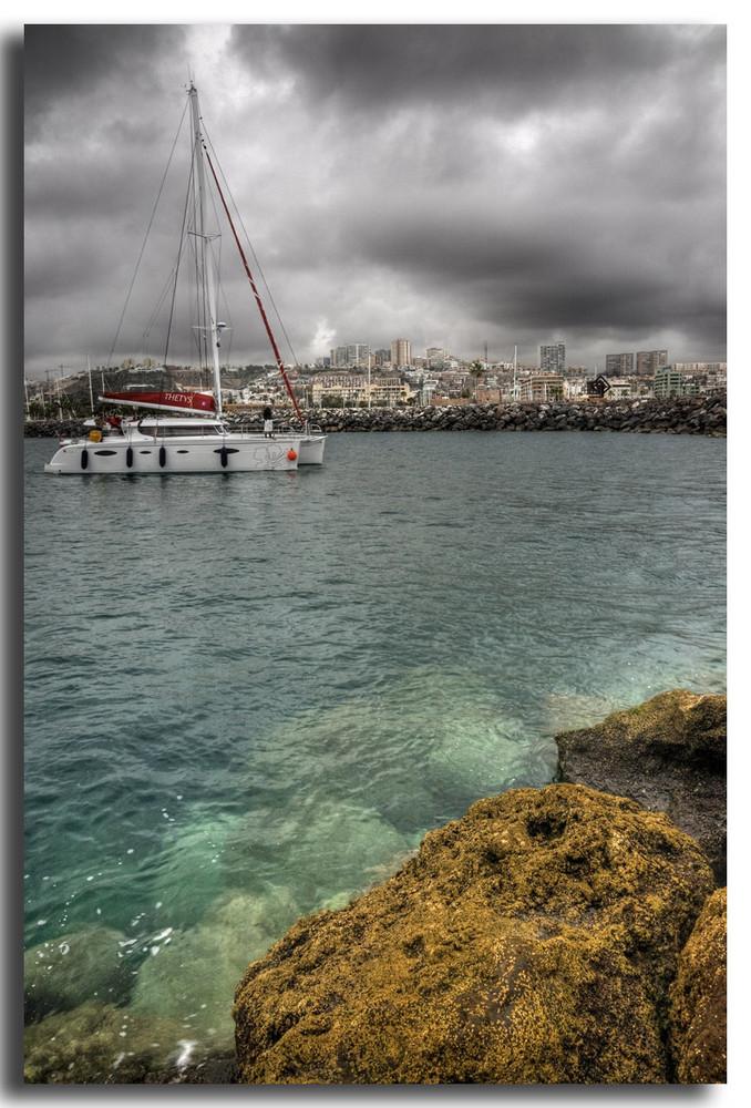 Entrando a puerto (Gran Canaria)