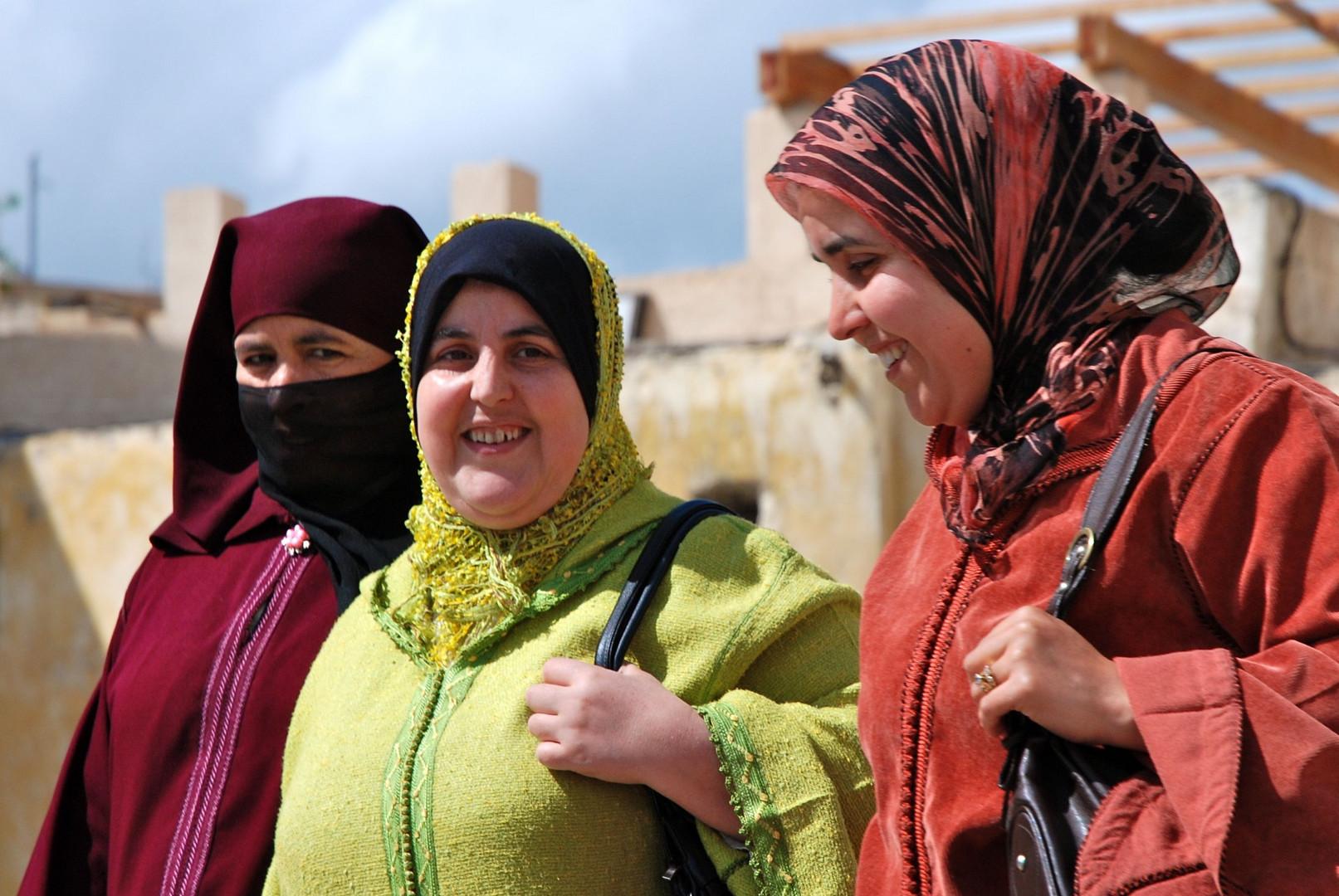 Entre copines. Meknes, Maroc.