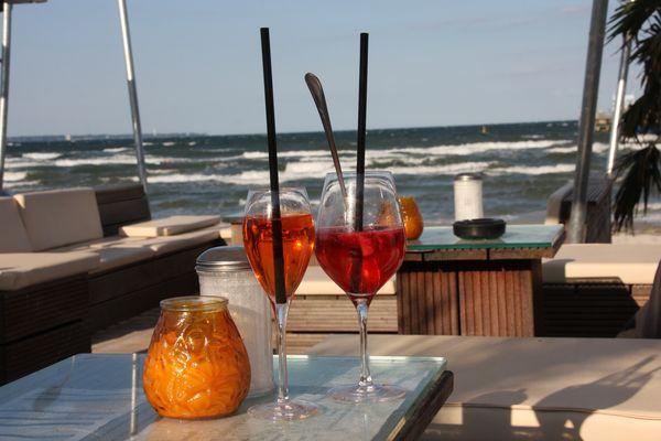Entschleunigung in der beach-lounge Scharbeutz