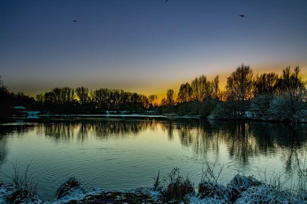 Entspannung am Teich