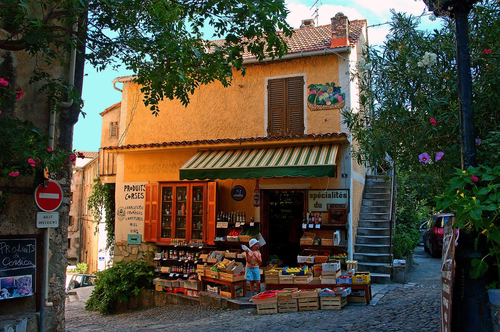 Epicerie corse à Corté (Corse)