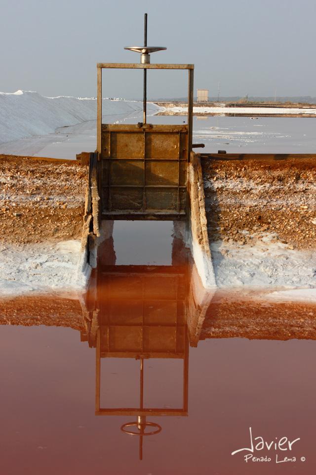 Equidistancia, reflejo en la salina