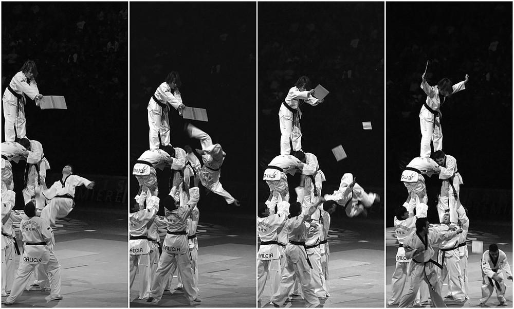 Equipe espagnole de Taekwondo au gala des arts martiaux à Bercy...