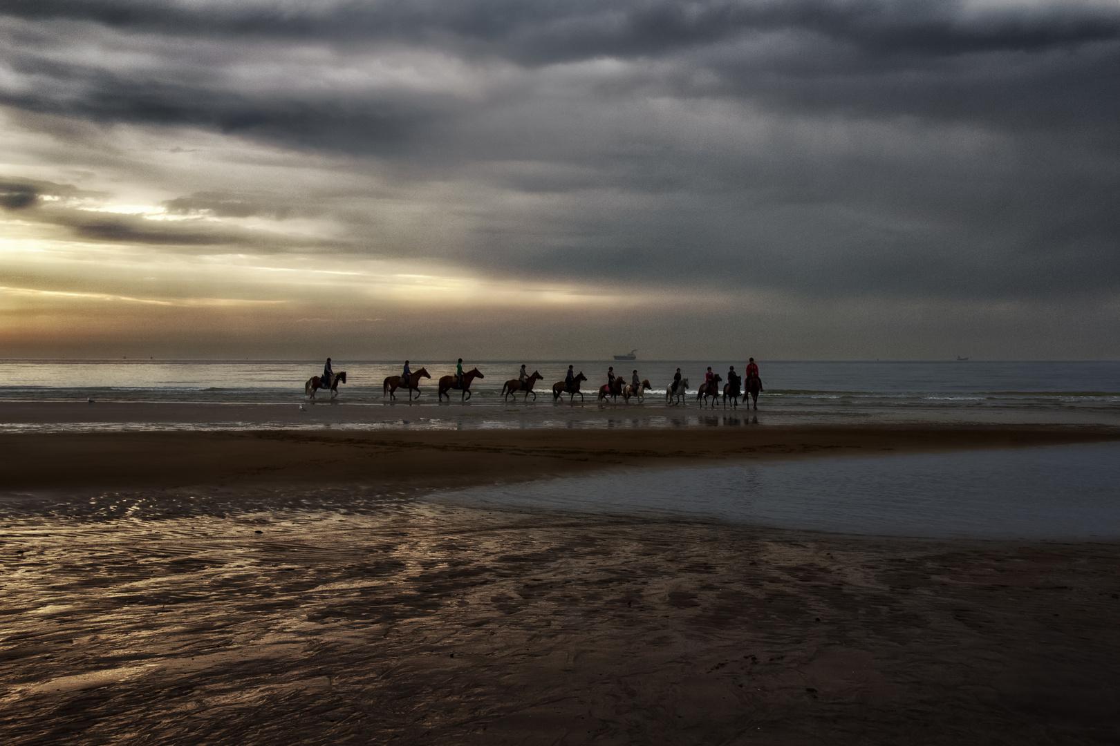 Equitación al borde del mar II