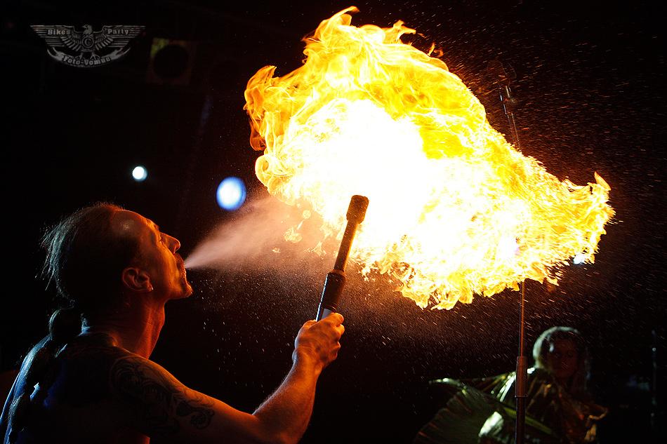 Er war Feuer und Flamme...