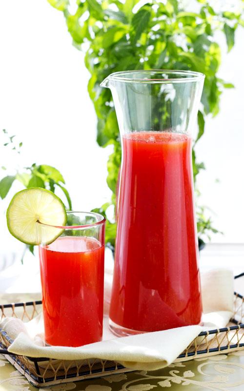 Erdbeer Limetten Limonade