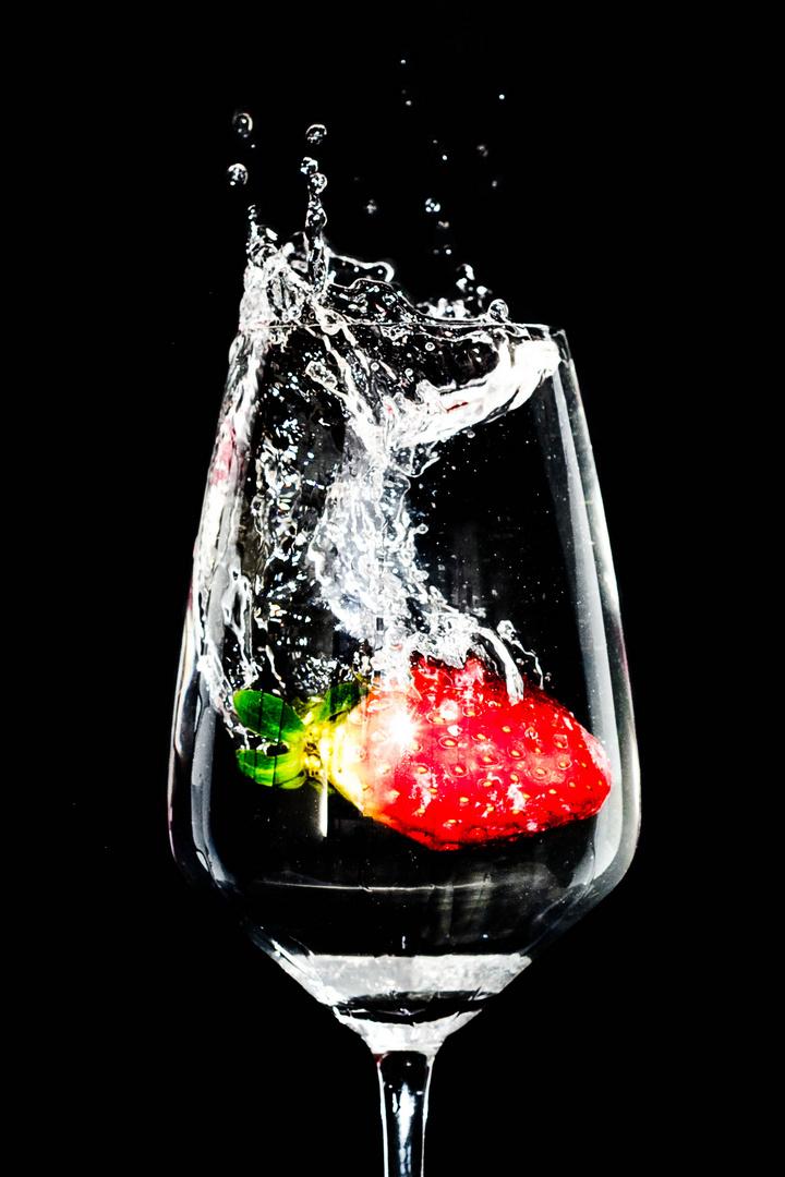 Erdbeer-Splash Nr.2