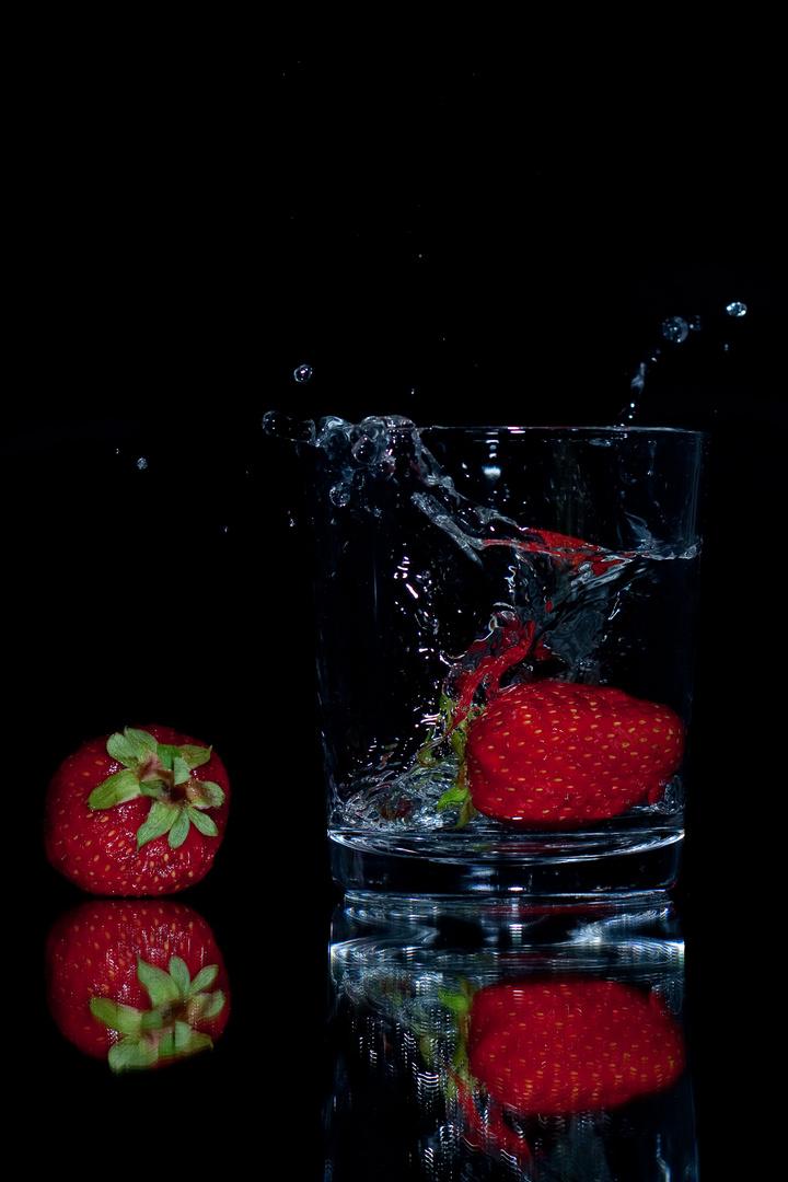 Erdbeere im Glas