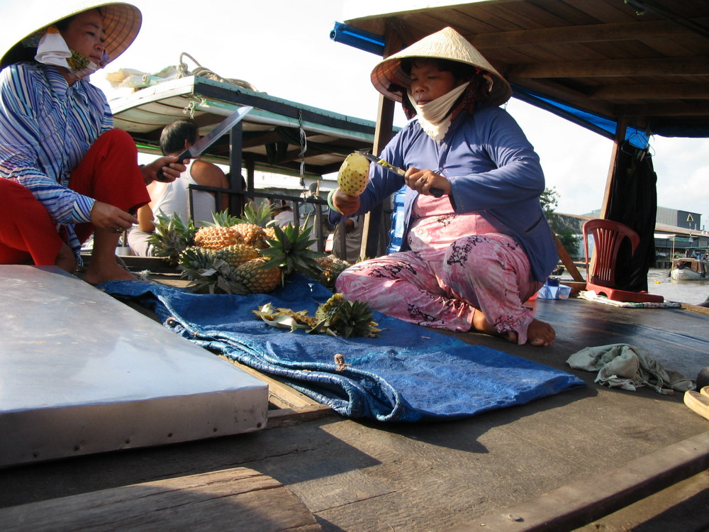Erfrischung auf dem Mekong